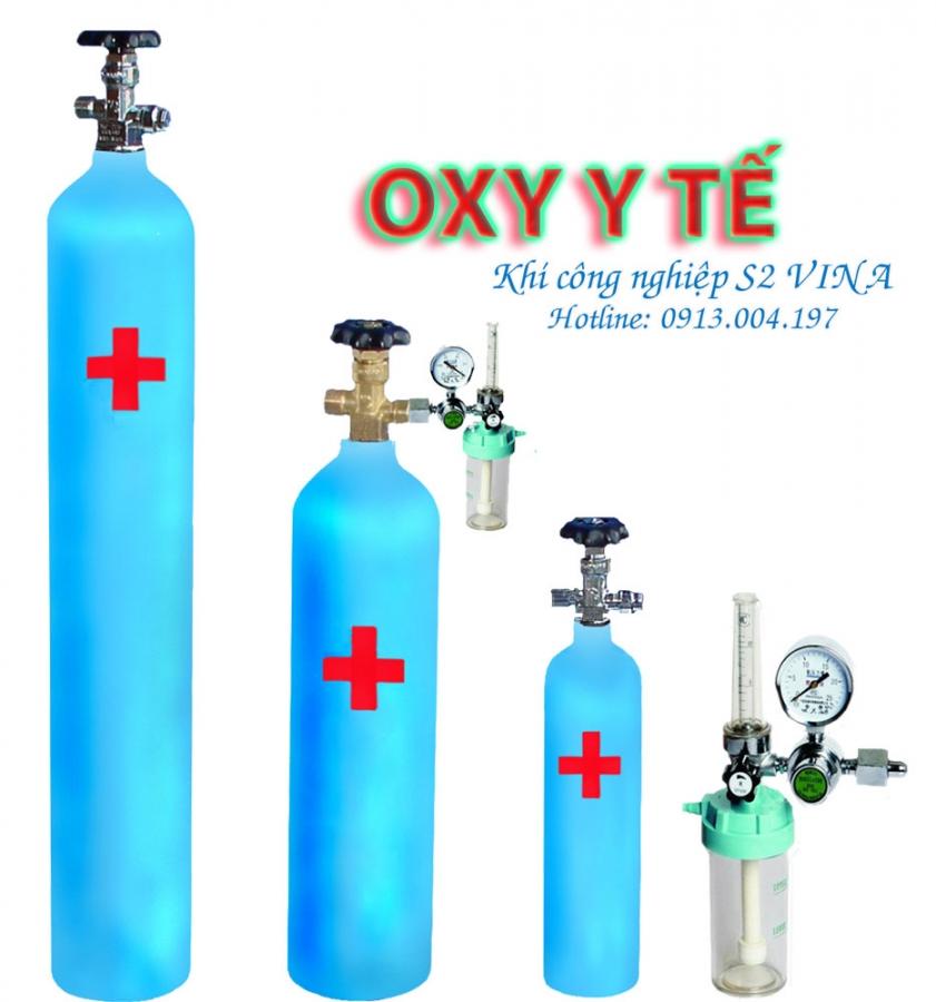 Khí công nghiệp oxy dùng trong y tế