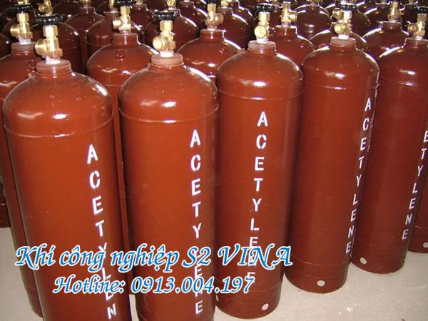 bình khí công nghiệp acetylen tinh khiết