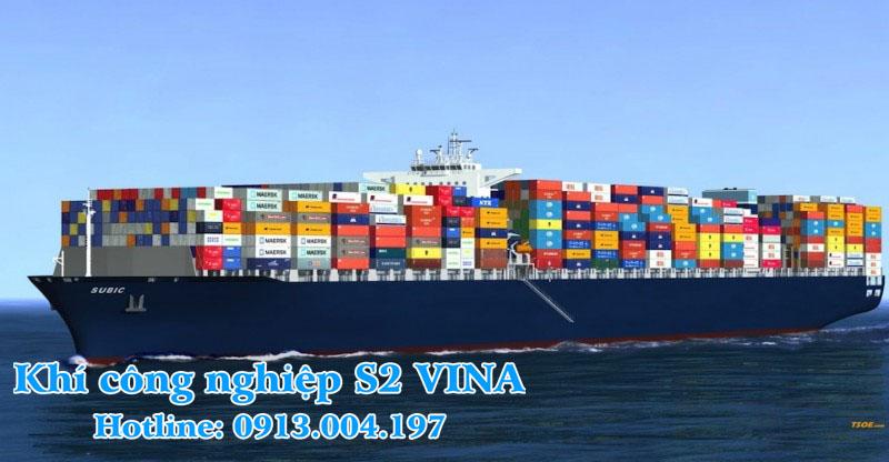 vận chuyển khí công nghiệp  bằng tàu biển
