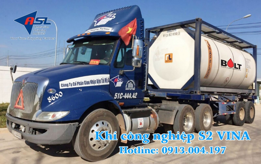 vận chuyển khí công nghiệp an toàn